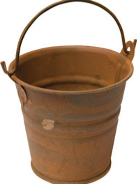 "Rusty Tin Bucket, 2-1/4"" # G6500-75"