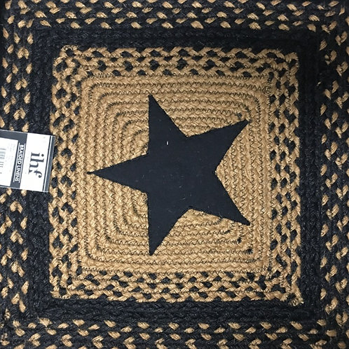"""IHF Braided Placemat 15""""x15"""" #BR-203 TA"""