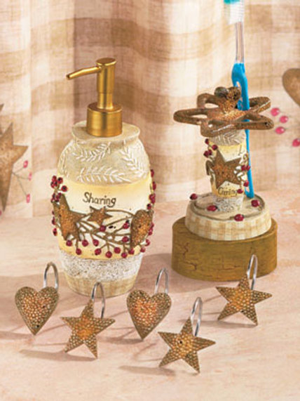 Country Hearts & Stars Shower Hooks