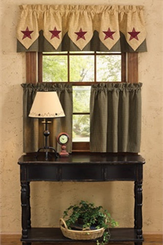 Country Star Lined Point Valance #373-472