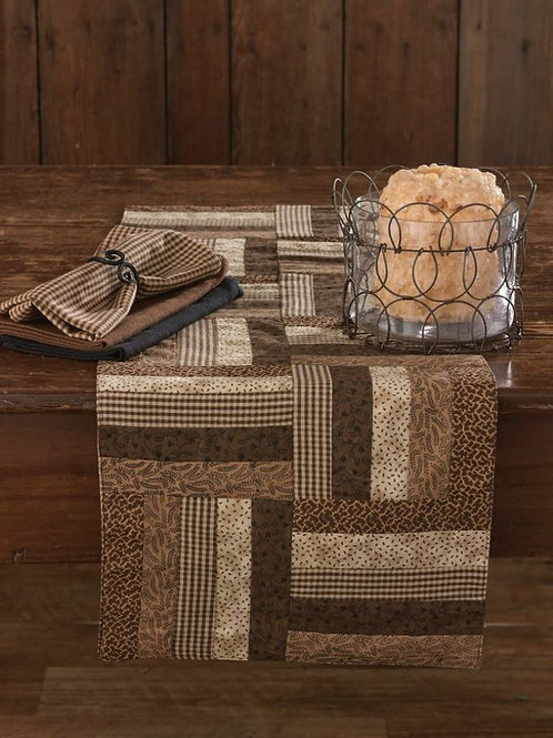 "Shades of Brown Table Runner 13""x 54"" #384-13"