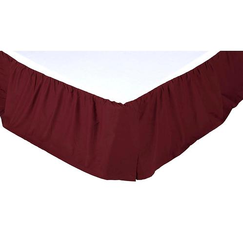"Solid Burgundy Queen Bed Skirt 60""x80""15"" #13615"