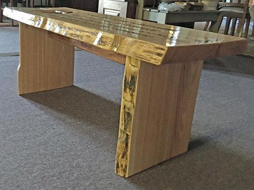 Oak Memorial Bench Custom Carved #PS1