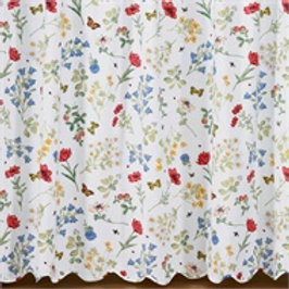 Wildflower Scalloped Shower Curtain #135-45