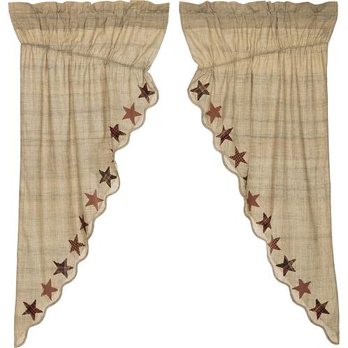 """Abilene Star Prairie Curtain 63""""x36""""x18"""" #19966"""