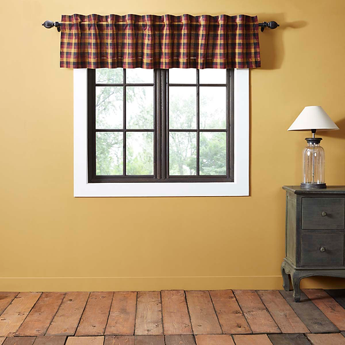 """Primitive Checked Valance Lined 16""""x72"""" #38007"""