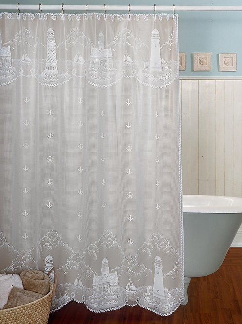 "Lighthouse Shower Curtain 72"" x 72"" #6140W-0C"
