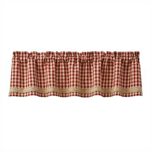Crochet Gingham Lined Valance 455-47X