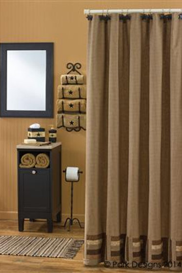 "Shades of Brown Shower Curtain 72"" x 72"" #384-45"
