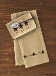 Burlap Star Dishtowel #321-19