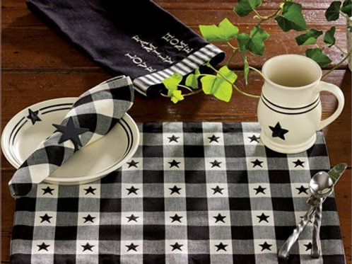 Checkerboard Star Placemat #300-01