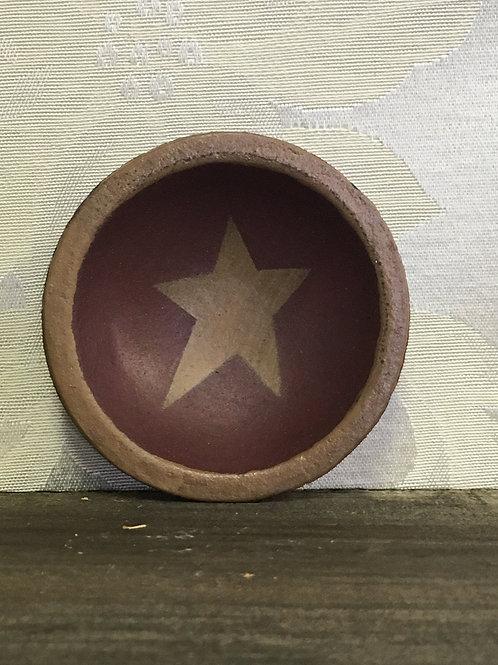 """Mini Star Plate Wooden 2.50"""" #32968"""