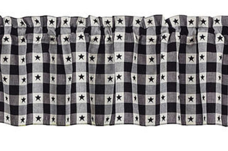 """Checkerboard Star Lined Valance 72""""x 14"""" #300-47X"""