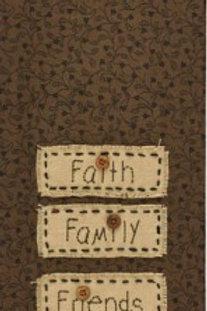 Faith Family Friends Applique Dishtowel #71-770
