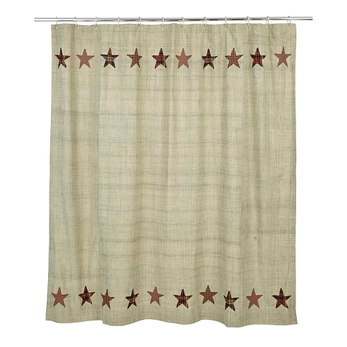 "Abilene Star Shower Curtain 72""x72"" #19979"