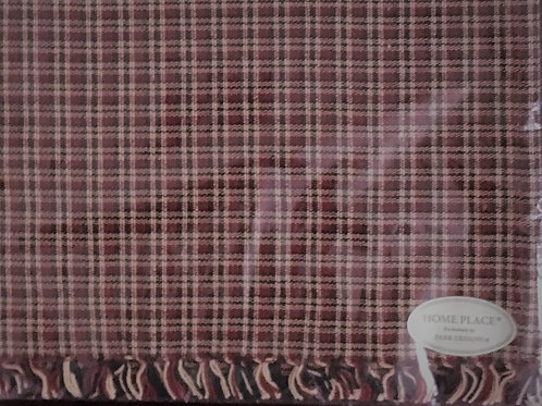 "Home Place Table Runner Plaid 13"" X 36"" #401-12X"