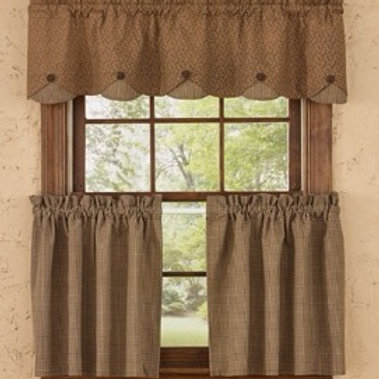 "Shades of Brown Lined Tiers - 72"" x 24"" #384-48"