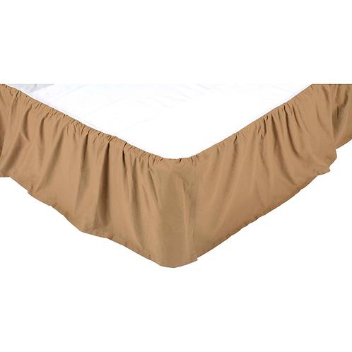 "Solid Khaki Queen Bed Skirt 60""x80""x15"" #13818"