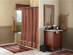 Sturbridge Patch Patch Shower Curtain - Wine #316-45XK