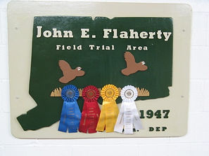 Flahety Field Trial Area Sign, East Windsor, CT., Dog Trial Area