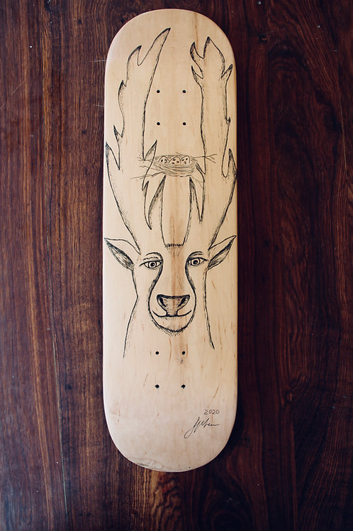 human:two:heavy (skateboard deck)