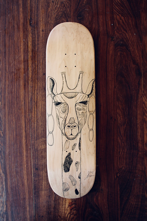 human:five:wise (skateboard deck)