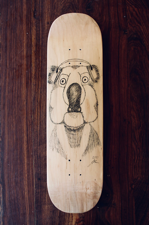 human:six:safe (skateboard deck)