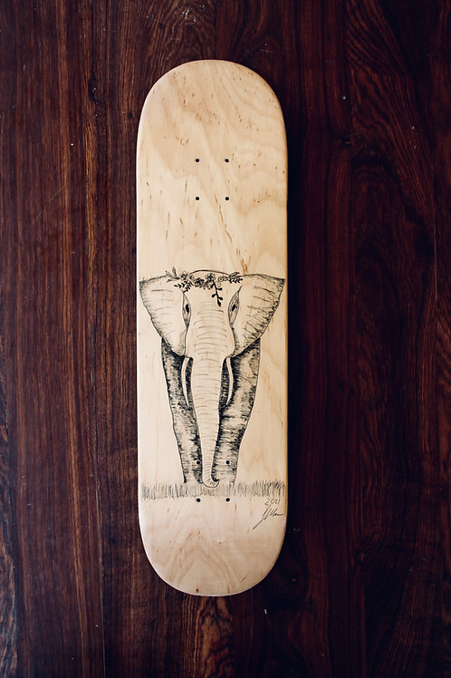 human:eight:strong (skateboard deck)