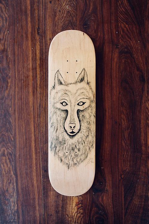 human:ten:fight (skateboard deck)