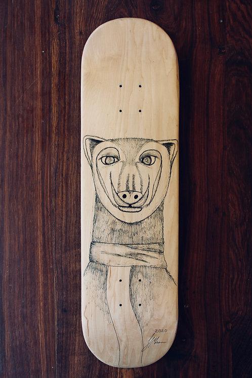 human:four:deep (skateboard deck)