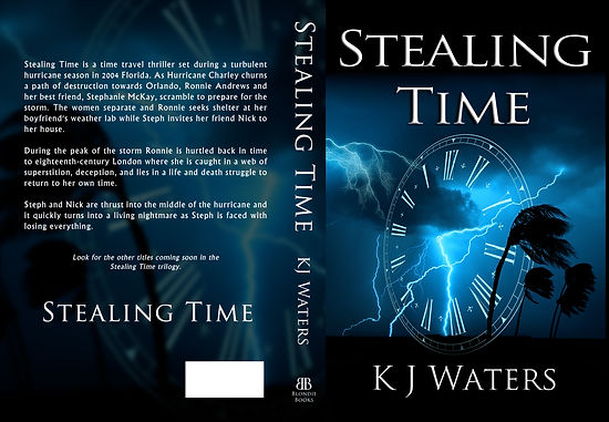 science fiction, thriller, hurricane, amazon, Hurricane Charley, Stealing Time, five stars, KJ Waters