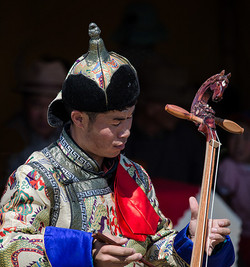 Musician with Horse-head Fiddle