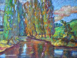 #1228 - La rivière entre les aubarelles