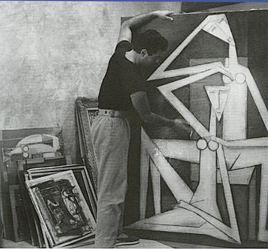 GuyRenne à l' Atelier de Fontvieille en 1960
