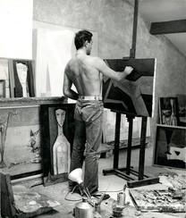 Guy Renne dans son atelier de Fontvieille