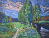 #1229 - La rivière entre les aubarelles