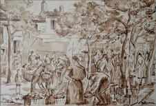 #1602 -  Le marché à Fontvieille