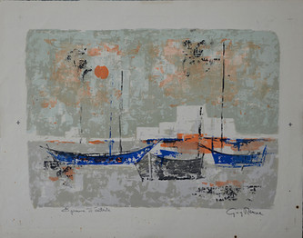 #1082 - Les barques bleues