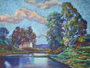 #1225 - L'étang et la maison...
