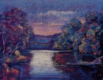 #1209 - Rivière au couchant
