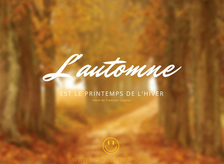 L'automne, la chute des feuilles et de mon moral...