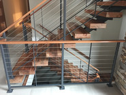 Cable Railing and floating stairs