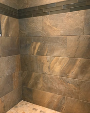 Earth tone loving shower