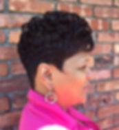 Professional Female, short haircut, African American Hairstyle, profile
