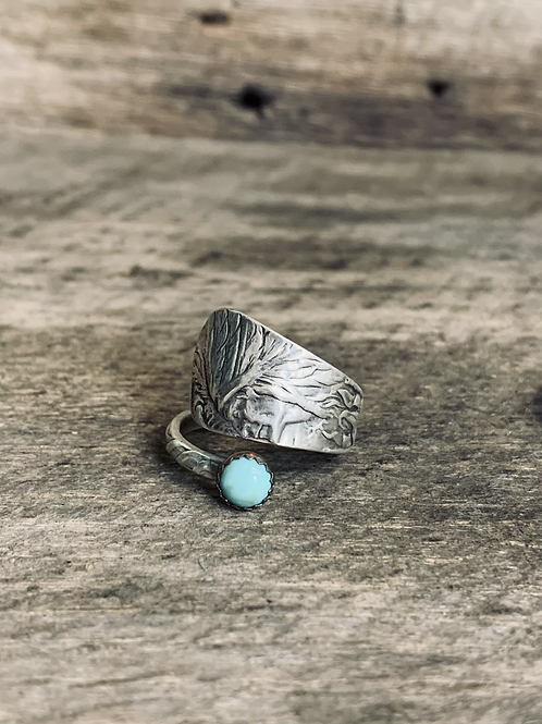 Indian head Spoon Ring