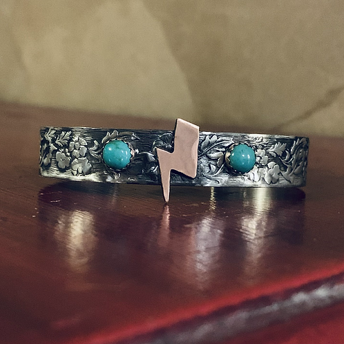 Authentic Turquoise Lightning Bolt Cuff
