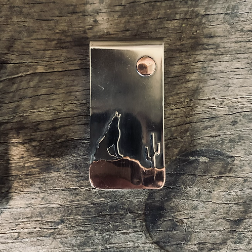 Coyote Howling Money Clip