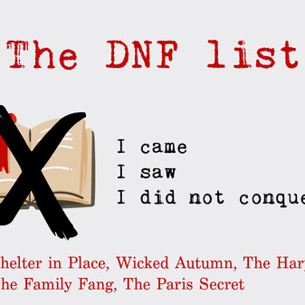 A DNF list for the winter.  Just couldn't do it.