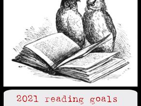 2021 reading goals: taking it easy