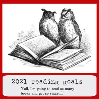 2021 reading goals: challenge level